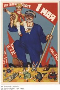 Vinatge Russian poster - Long Live May 1st 1928